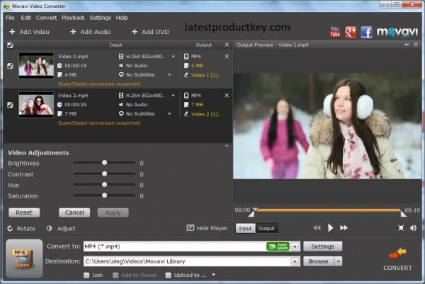 Movavi Video Converter 20.0.1 Crack