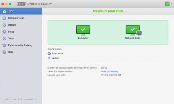 ESET Cyber Security Pro 6.8.3 Crack + License Key (Mac OS X)