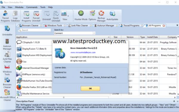 Revo Uninstaller Pro 4.2.3 Crack + License Key Latest Version