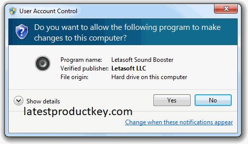 Letasoft Sound Booster 1.11 Crack with Product Key