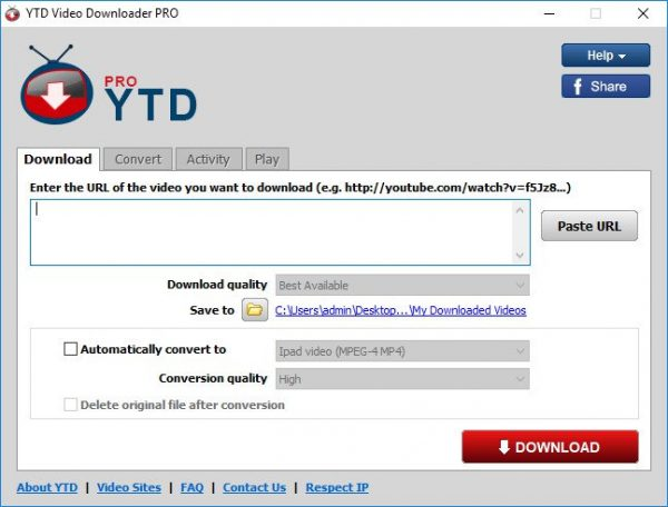 YTD Video Downloader Pro 5.9.17.1 Crack + Serial Key